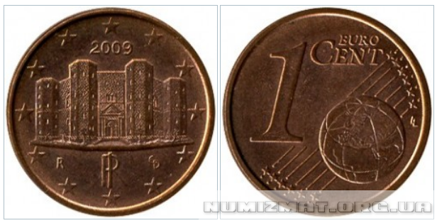 1 eurocent 2009 Italy