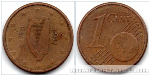 1 eurocent 2011 Ireland